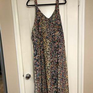 Mlle Gabrielle size 3X floral print maxi sundress